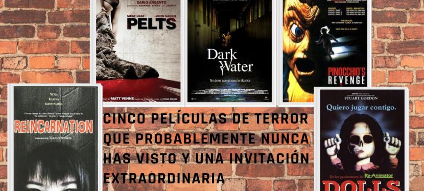 """""""Cinco películas de terror que probablemente nunca hasvisto"""""""